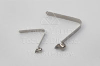 I Style 316 Stainless Drawn Head Single End Straight Spring Leg